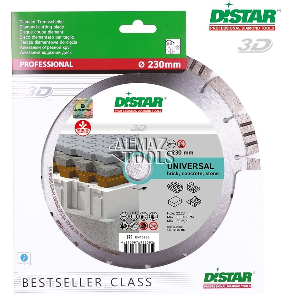 Круг алмазный Distar Bestseller Universal 1A1RSS - 1
