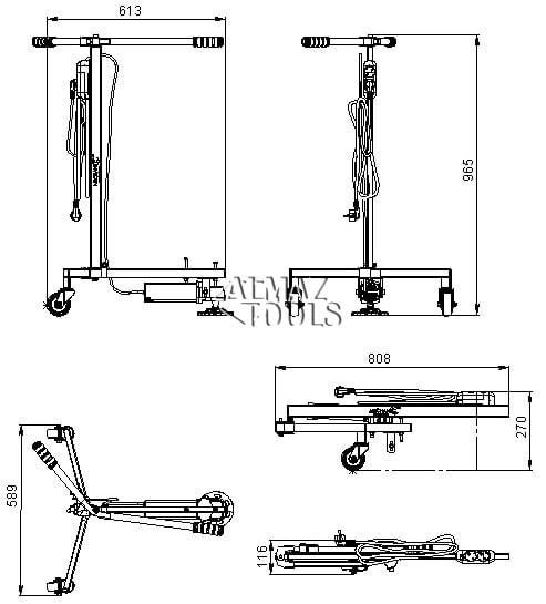 Стойка для шлифования болгаркой Mechanic ComfyGRINDER 125 - 1